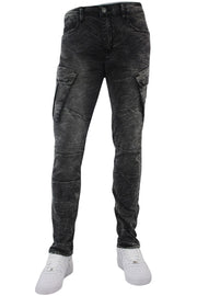 Moto Pocket Slim Fit Denim Black Wash (M4668D)