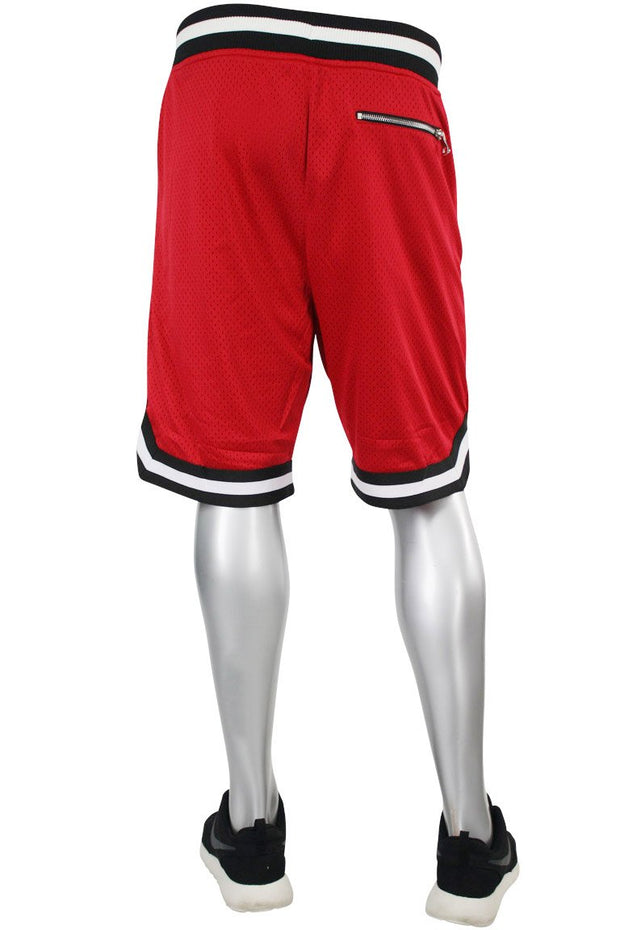 Jordan Craig Poly Mesh Shorts Red - Black (8289S 22S) - Zamage