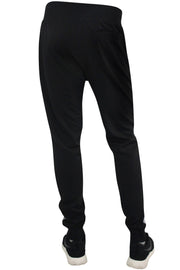 Color Block Tech Fleece Pants Black (1400) - Zamage