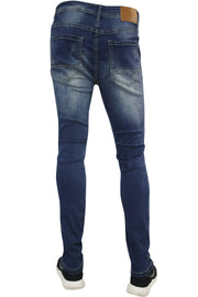 Distressed Skinny Fit Denim Indigo (M4490D) - Zamage