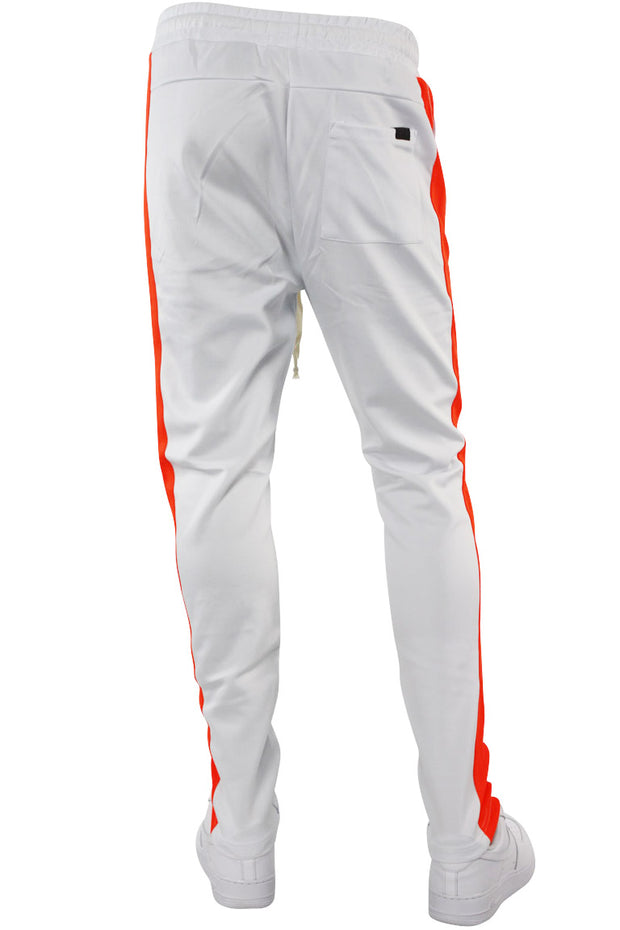 Side Stripe Track Pants White - Orange (HF9602)