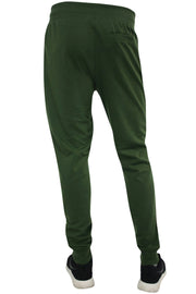 Color Block Tech Fleece Pants Olive (1400) - Zamage