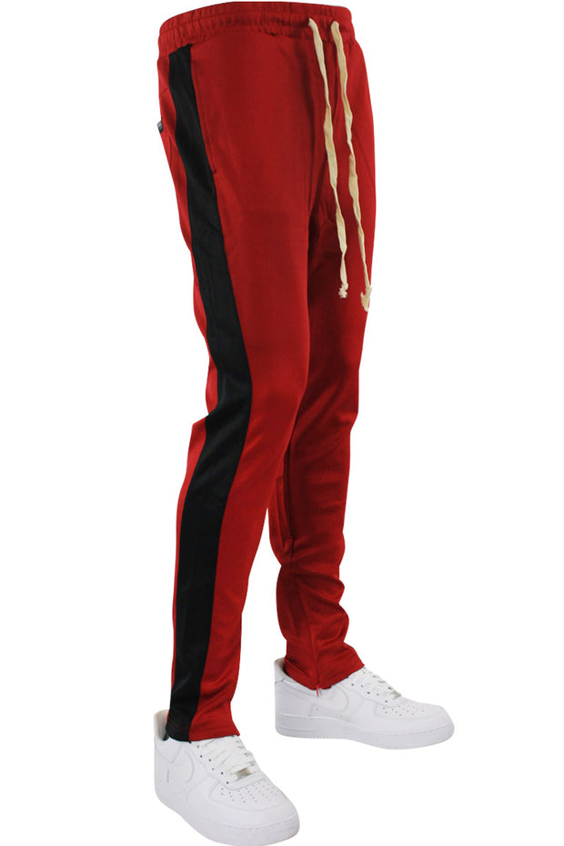 Side Stripe Track Pants Red - Black (HF9602)
