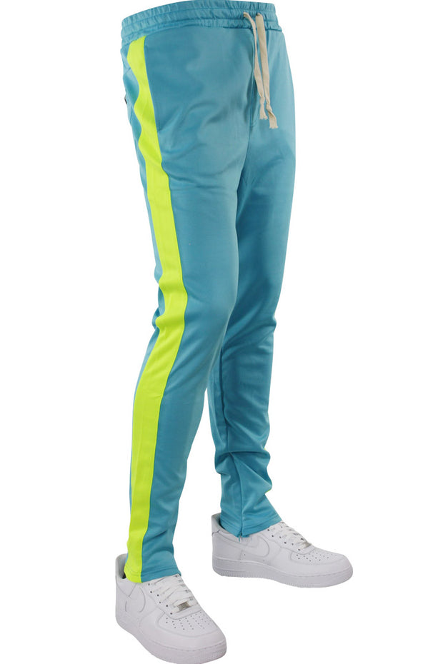 Side Stripe Track Pants Aqua - Lime (HF9602)
