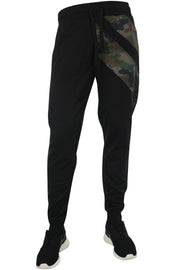 Color Block Tech Fleece Pants Black - Camo (1405) - Zamage