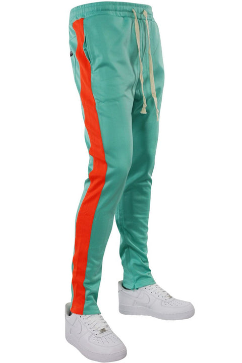 Side Stripe Track Pants Turquoise - Orange (HF9602R)