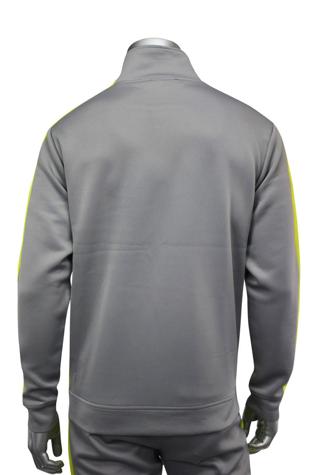Side Stripe Track Jacket Grey - Lime (1915)