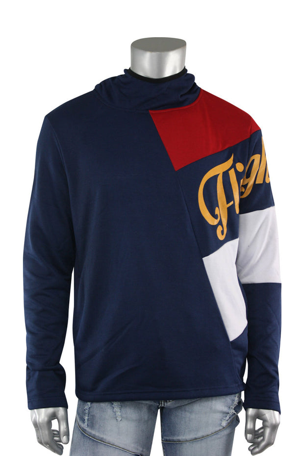 French Terry Flight Pullover Hoodie Navy (FLIGHT 22S) - Zamage