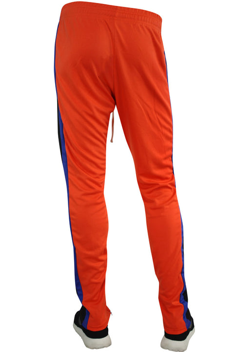 Multi Stripe Color Block Track Pants Orange - Blue - Yellow (19703)
