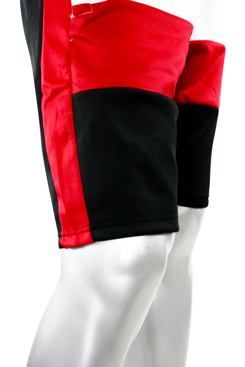 Colorblock Track Shorts Black - Red (111-910) - Zamage