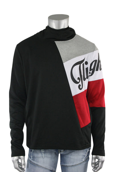 French Terry Flight Pullover Hoodie Black (FLIGHT 22S) - Zamage