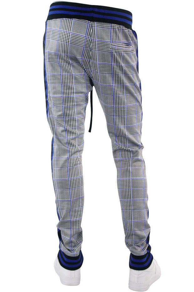 Plaid Track Pants Royal (1A2-411)