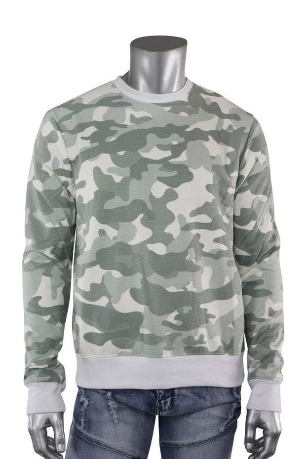 All Over Camo Crewneck Grey (CAMO 22S) - Zamage