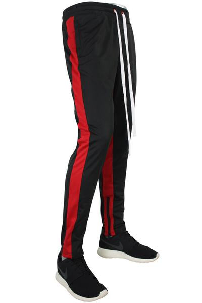 Side Stripe Track Pants Black - Red (1914)