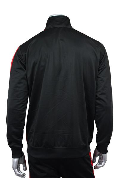Side Stripe Track Jacket Black - Red (1915)
