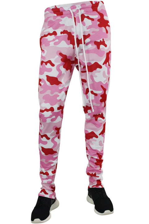 Side Stripe Camo Track Pants Pink - White (1914)