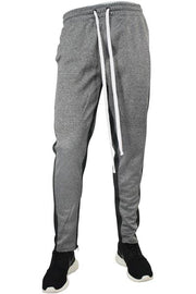 Side Stripe Track Pants Marled Black (1914) - Zamage