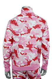 Side Stripe Camo Track Jacket Pink - White (1915 22S)