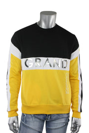 Color Block Cut & Sew Crewneck Sweater Yellow (SEW 22S)
