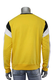 Color Block Cut & Sew Grand Crewneck Sweater Yellow (SEW 22S) - Zamage