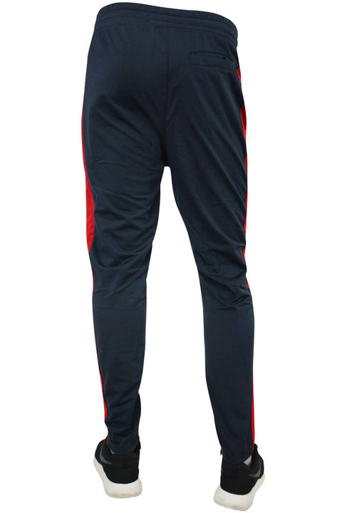 Striped Color Block Track Pants Navy - Red - Green (82-412)