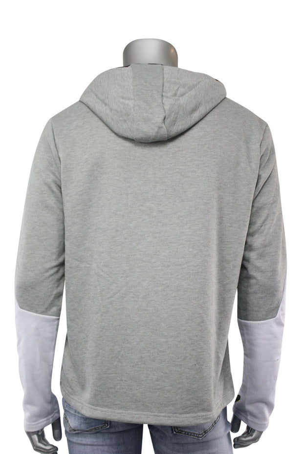 Chenille French Terry Hoodie Grey (CHENILLE 22S) - Zamage