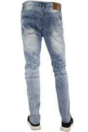 Side Moto Slim Fit Denim Light Blue (M4501R1D)