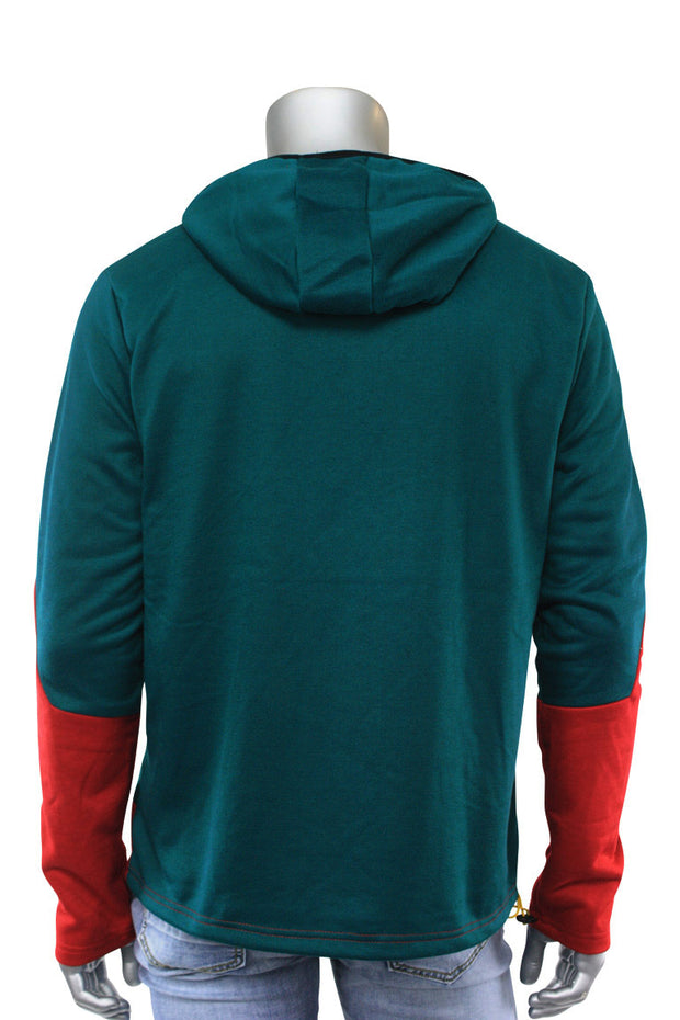 Chenille French Terry Hoodie Hunter Green (CHENILLE 22S) - Zamage