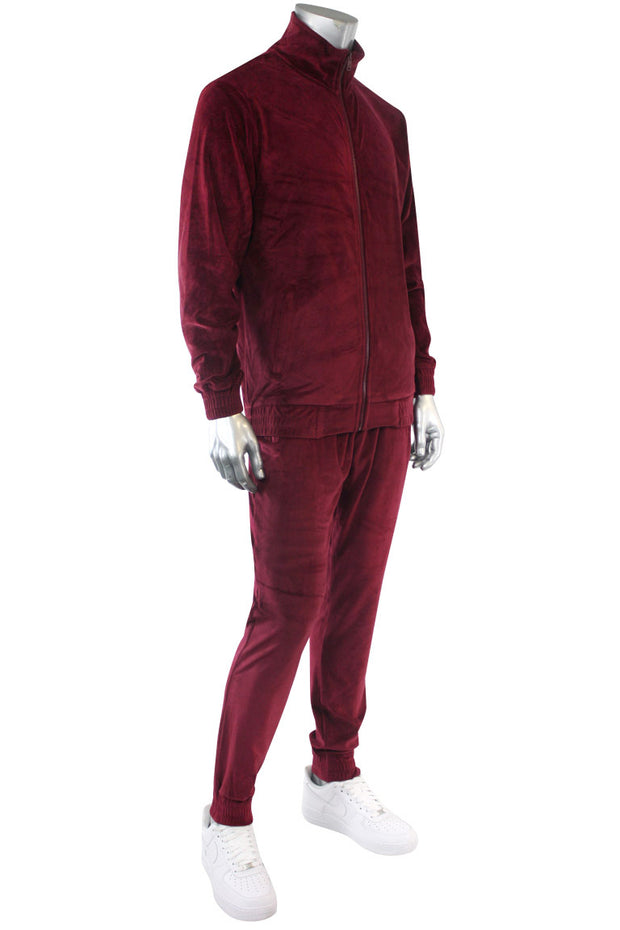Velour Jogger Burgundy (1A2-410) - Zamage