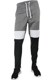 Color Block Track Pants Marled Black (1914) - Zamage