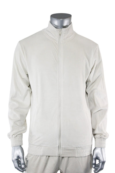Velour Full Zip Jacket Platinum (1A2-510) - Zamage