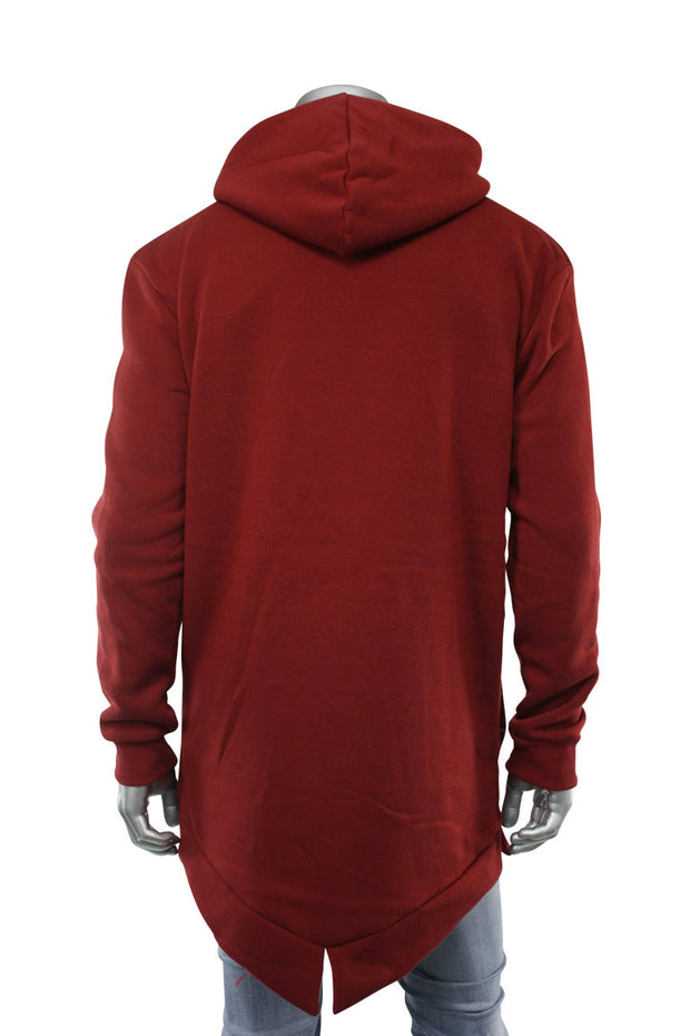 Elongated Nylon Hoodie Burgundy (16909 22S) - Zamage