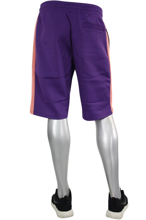 Color Block Track Shorts Purple - Pink - Grey (191-900) - Zamage