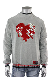 Heart Breaker French Terry Pullover Hoodie Heather Grey (18841 22S)