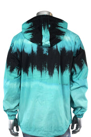 Tie Dye Windbreaker Jacket Teal (J017) - Zamage