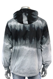 Tie Dye Windbreaker Jacket Grey (J017) - Zamage