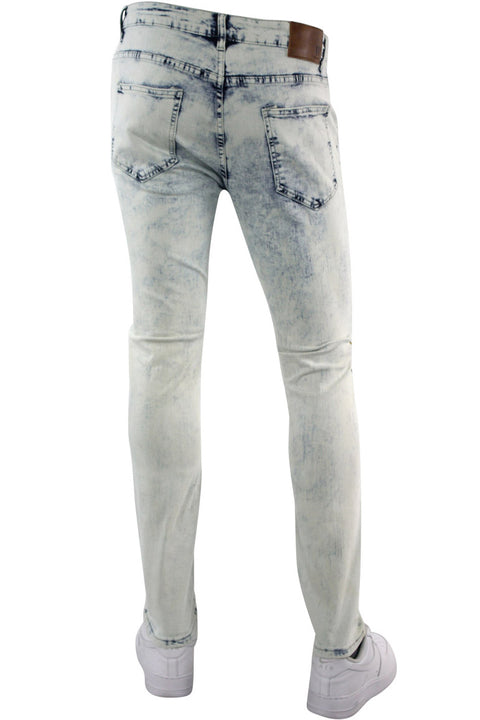 Moto Ripped Skinny Fit Denim White Wash (M4991DA)