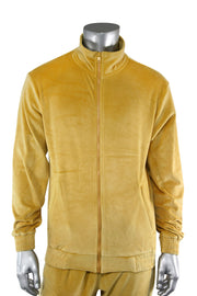 Velour Full Zip Jacket Timber (1A2-510) - Zamage