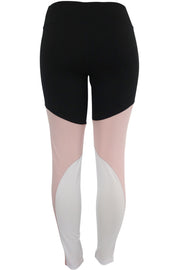Women's Performance Color Block Leggings Black - Pink (YP732)