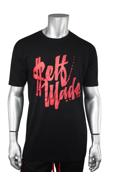 ZCL Self Made Tee Black - Red (ZCLMADE)