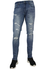 Jordan Craig Distressed Ankle Zip Skinny Fit Denim Aged Wash (JM3235)