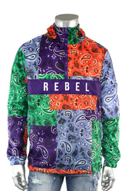 Paisley Collage Windbreaker Purple (1A2-517)