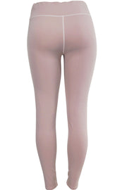 Women's Active Performance Moto Leggings Mauve (YP1042)