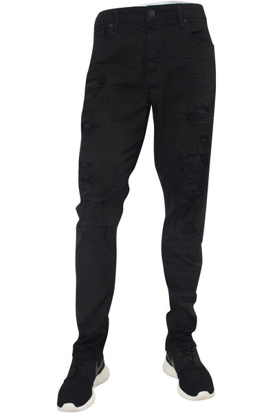 Jordan Craig Shredded Slim Fit Denim Jet Black (JM3230)