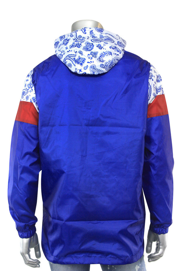 Color Block Paisley Windbreaker Royal (1A2-516)