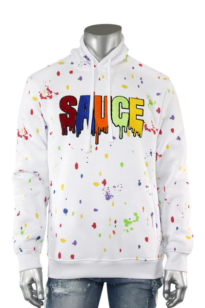 Sauce Chenille Patch Hoodie White (1A2-316)