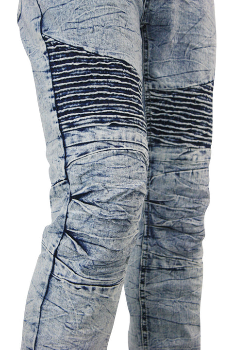 Moto Skinny Fit Denim Marble Wash (M4249DC)