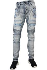 Moto Skinny Fit Denim Cloud Wash (M4372D) - Zamage