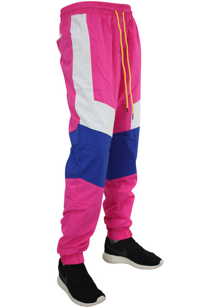 Color Block Windbreaker Track Pants Fuchsia (19711) - Zamage