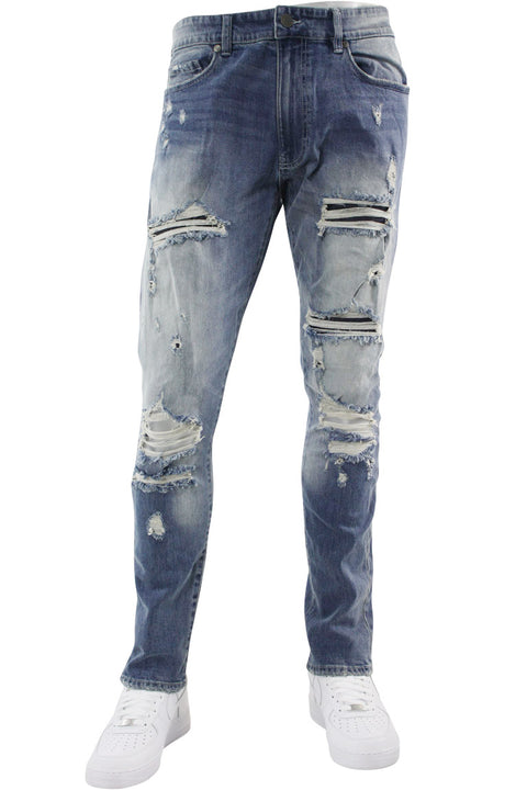 Jordan Craig Shredded Slim Fit Denim Aged Wash (JM3328 22S)